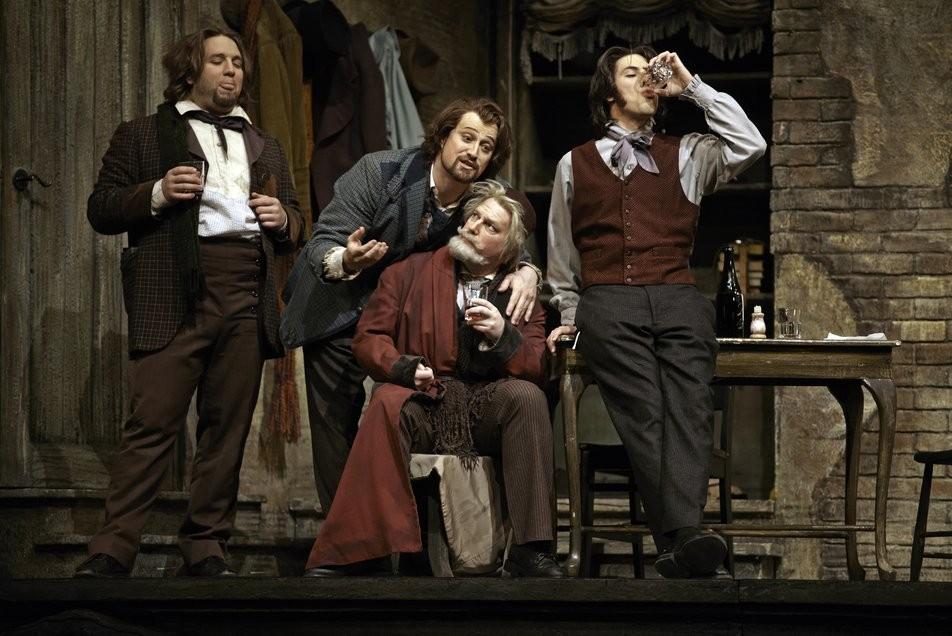 Calgary Opera Bohème Antoine Bélanger, Mark Ellis Gough et Phillip Addis
