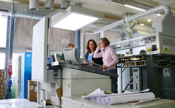 Druckabnahme in der Druckerei