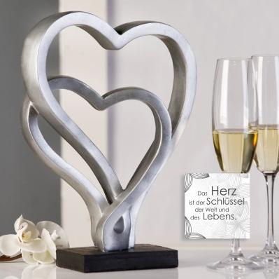Skulptur Hearts 64,90 € 30x23 cm Casablanca Design