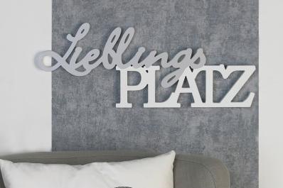 Schriftzug Lieblingsplatz 29,90€ 21x56 cm Casablanca Design