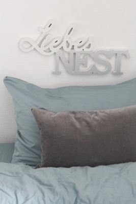 Schriftzug Liebesnest 29,90 € 24x48 cm Casablanca Design