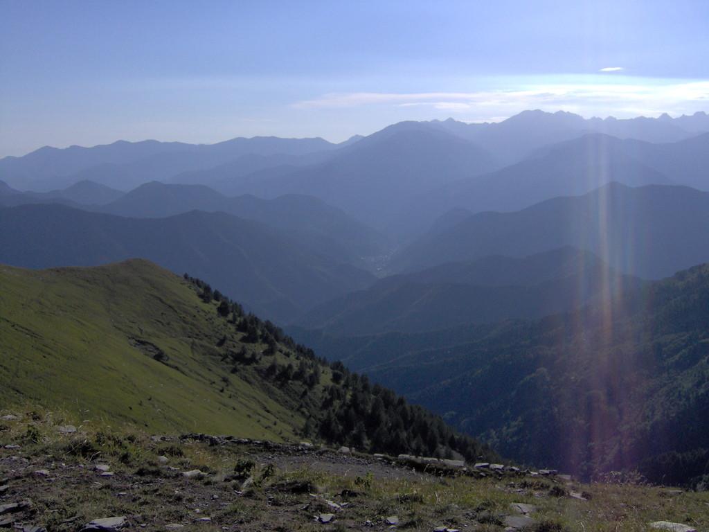 geniessen die phantastische Aussicht, hier gerade nach Frankreich runter,