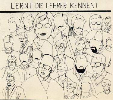Karikatur des Lehrerkollegiums: Hassan Kaba