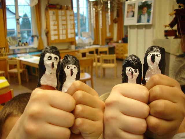 Fingerpuppen aus Gips