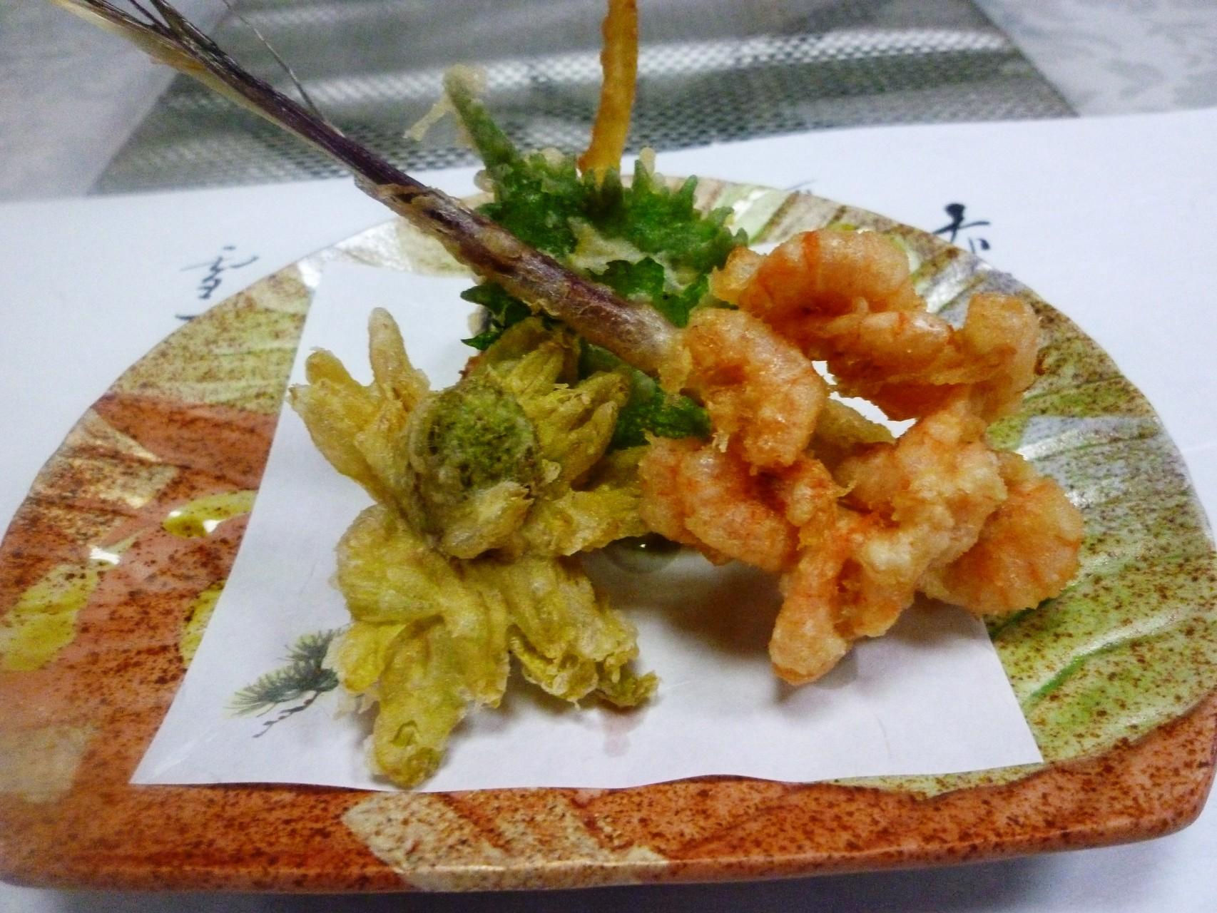 天然の芝海老と生姜の松阪ポーク巻き