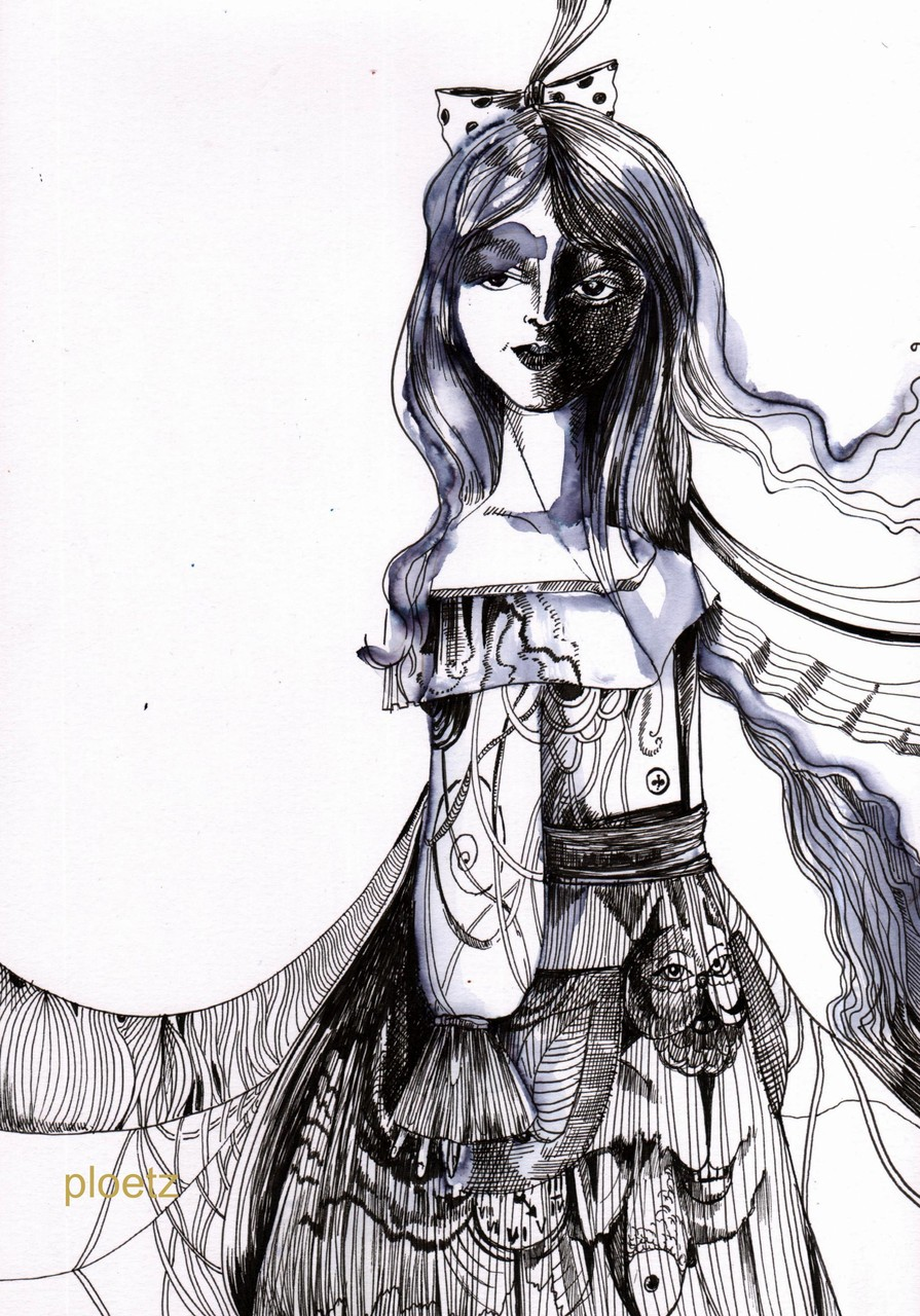 Inspired by Alice 10, 24 x 32 cm, ink and watercolour on paper, 2015 (N/A)