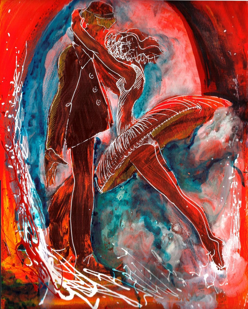 """""""Passion"""", 24 x 32 cm, mixed on paper, 2013 (sold, private collection, USA)"""