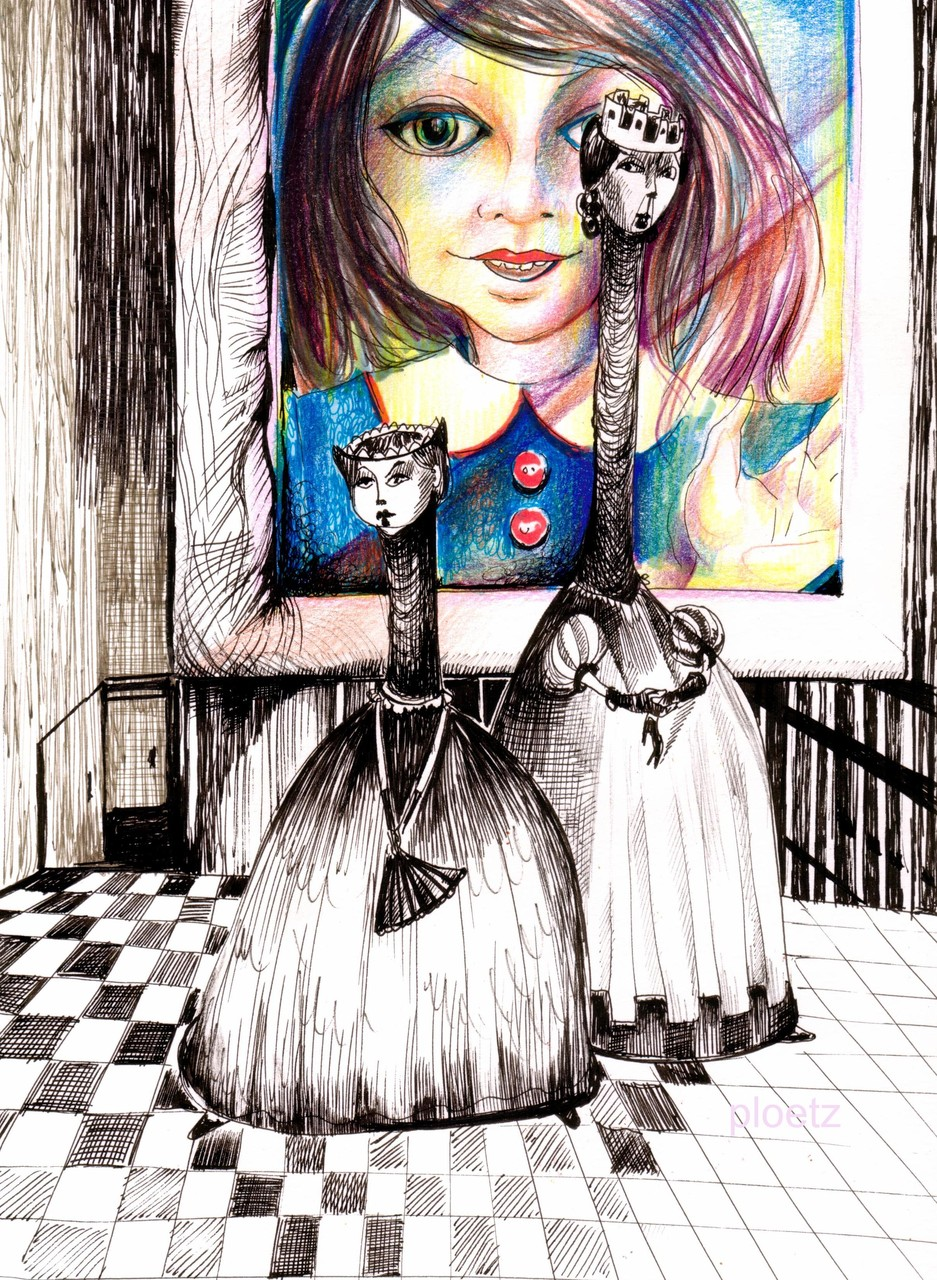 Inspired by Alice 2, 24 x 32 cm, ink and watercolour on paper, 2015