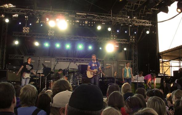 Herr Bär auf der N-Joy Bühne