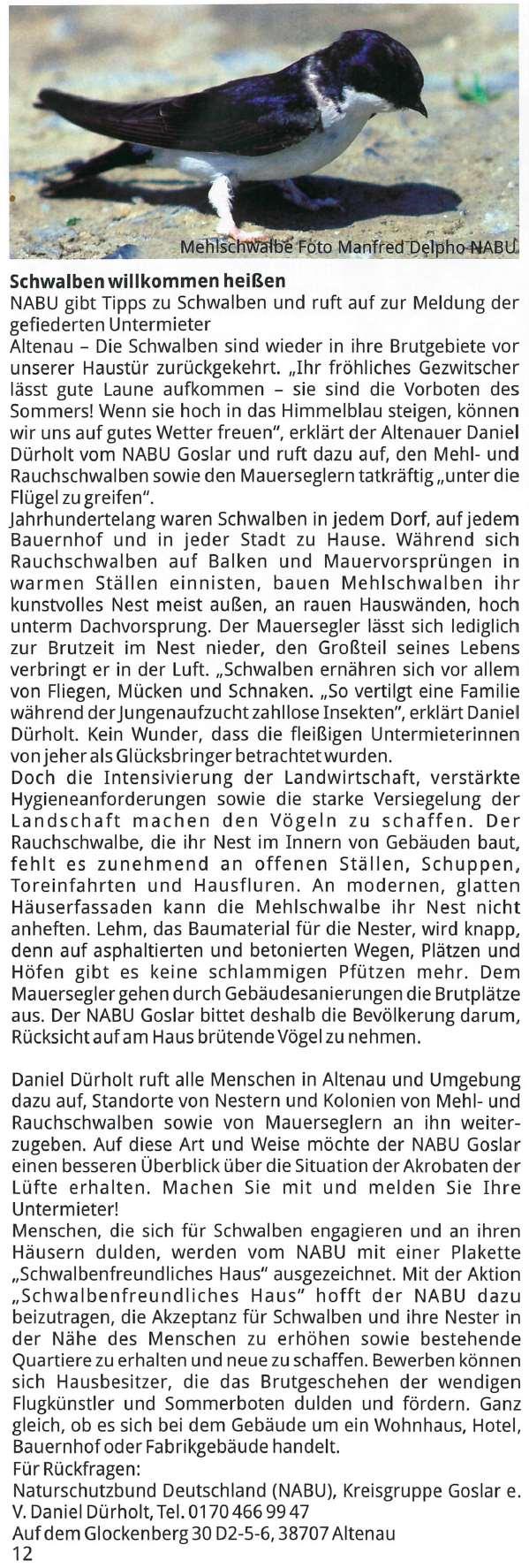 Presseartikel Nordharz-Portal Nr. 74 im Juni 2016
