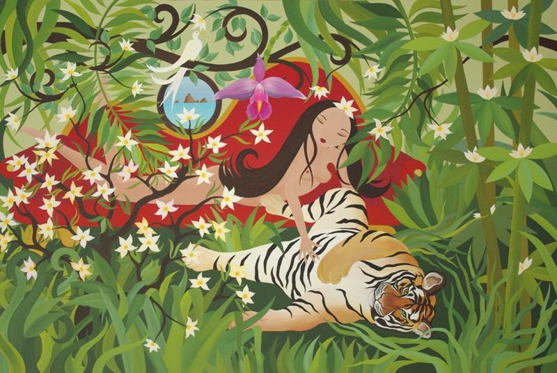 Le Tigre et l'Orchidée