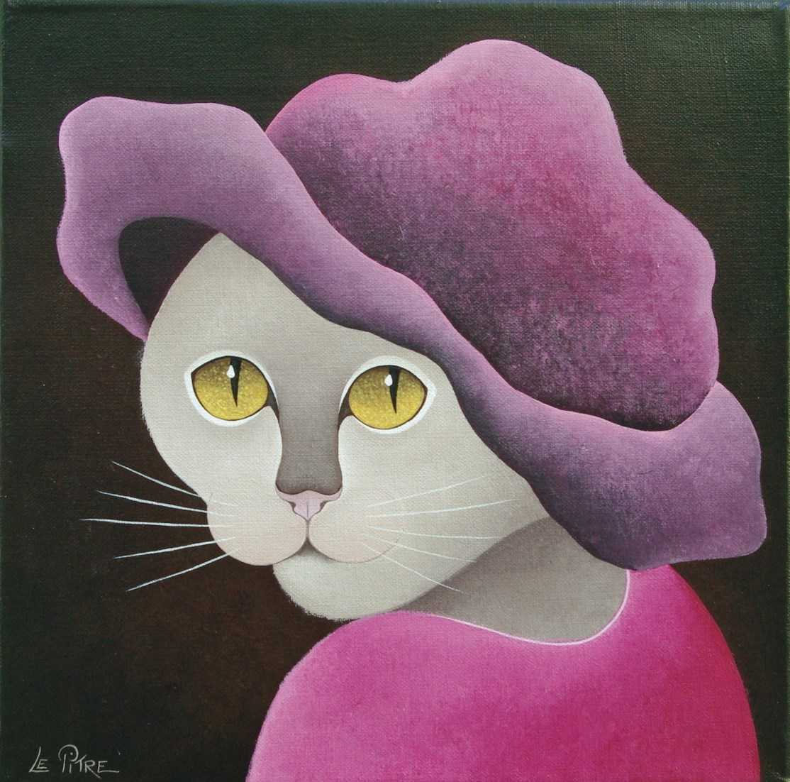 Le Chapeau Rose (30x30)