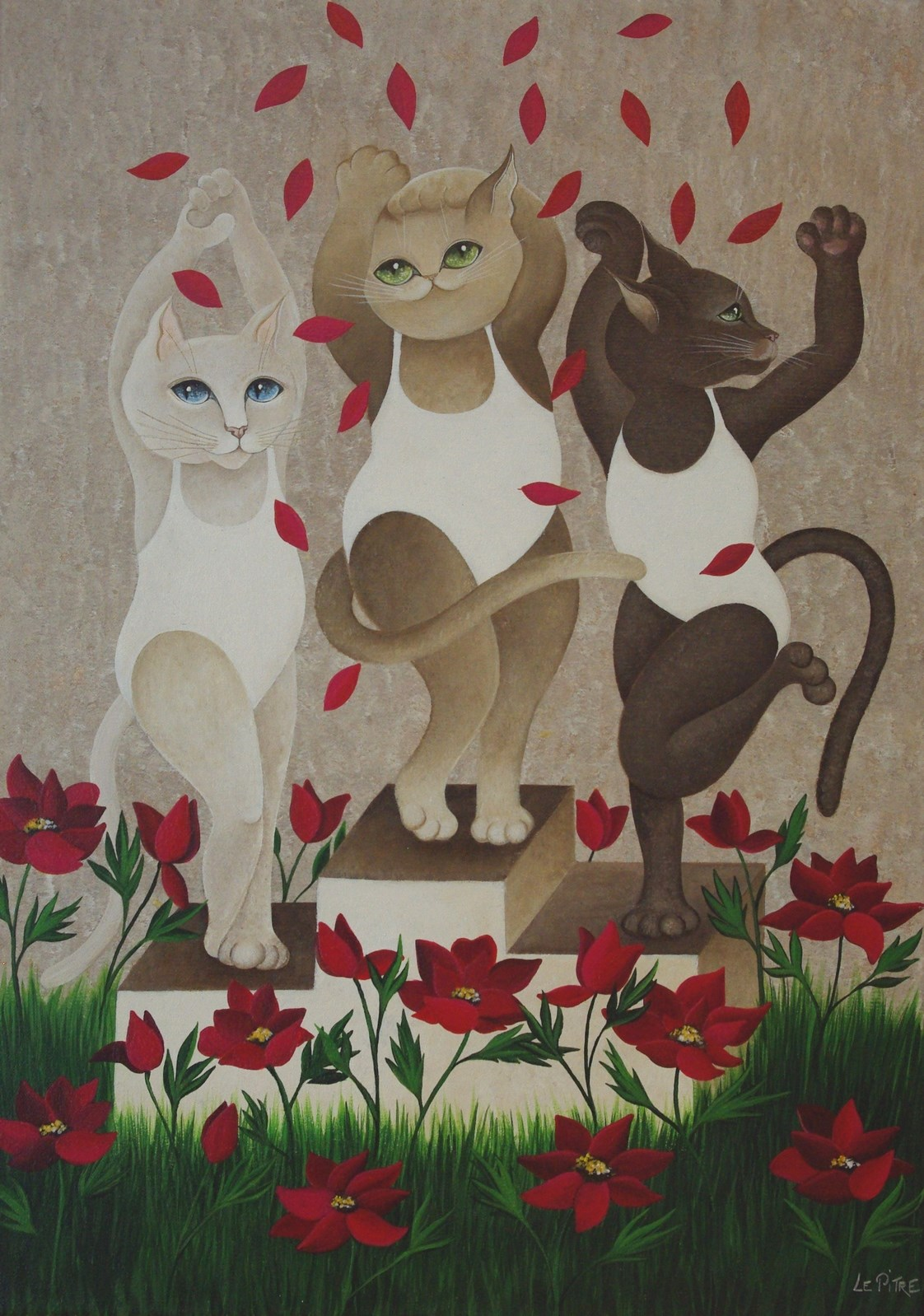 Les Chats Olympiques (45x65)