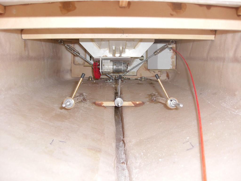 Wellenanlage - rechts Seilzug für SAR-Tür