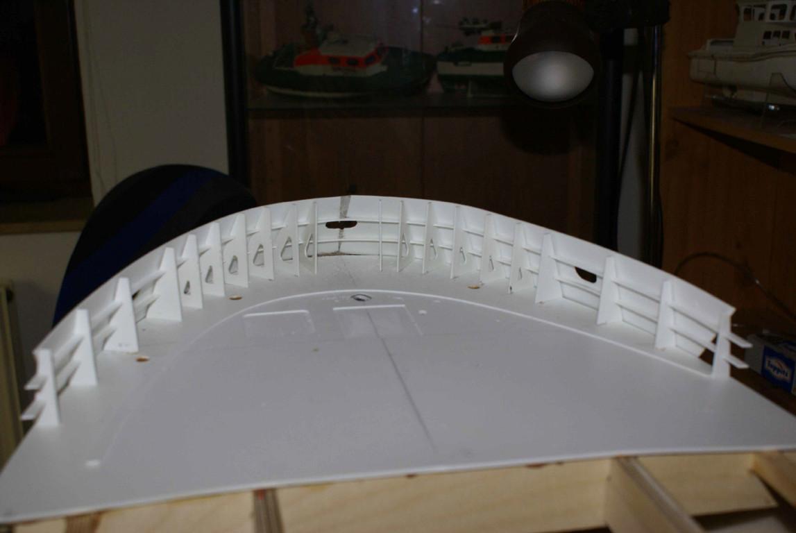 Aufbau der Bugschürze