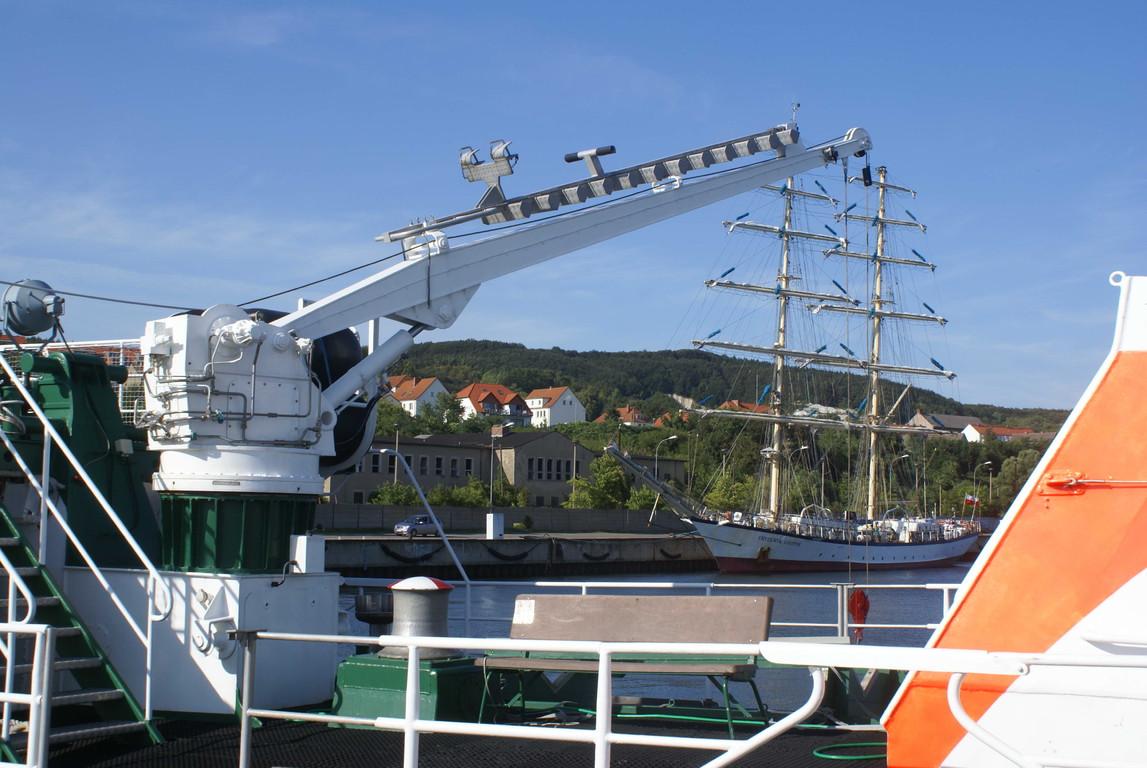 Einholen des Schlauchbootes