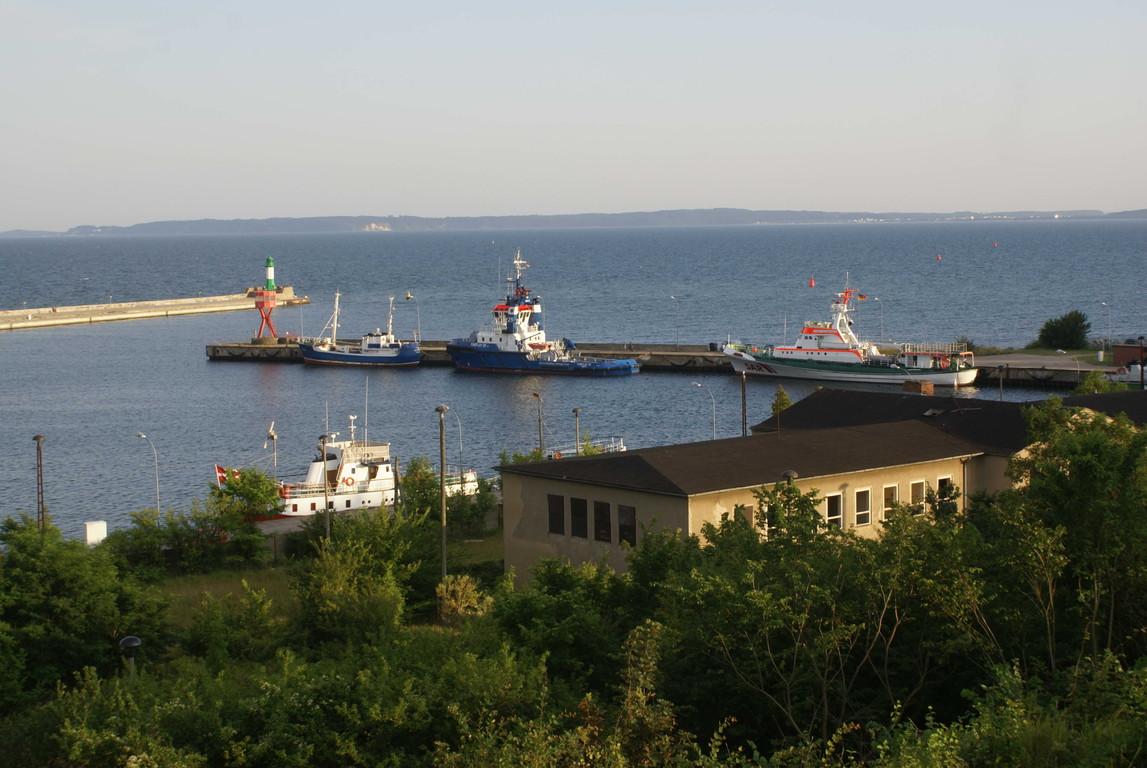 Blick auf den Sassnitzer Stadhafen