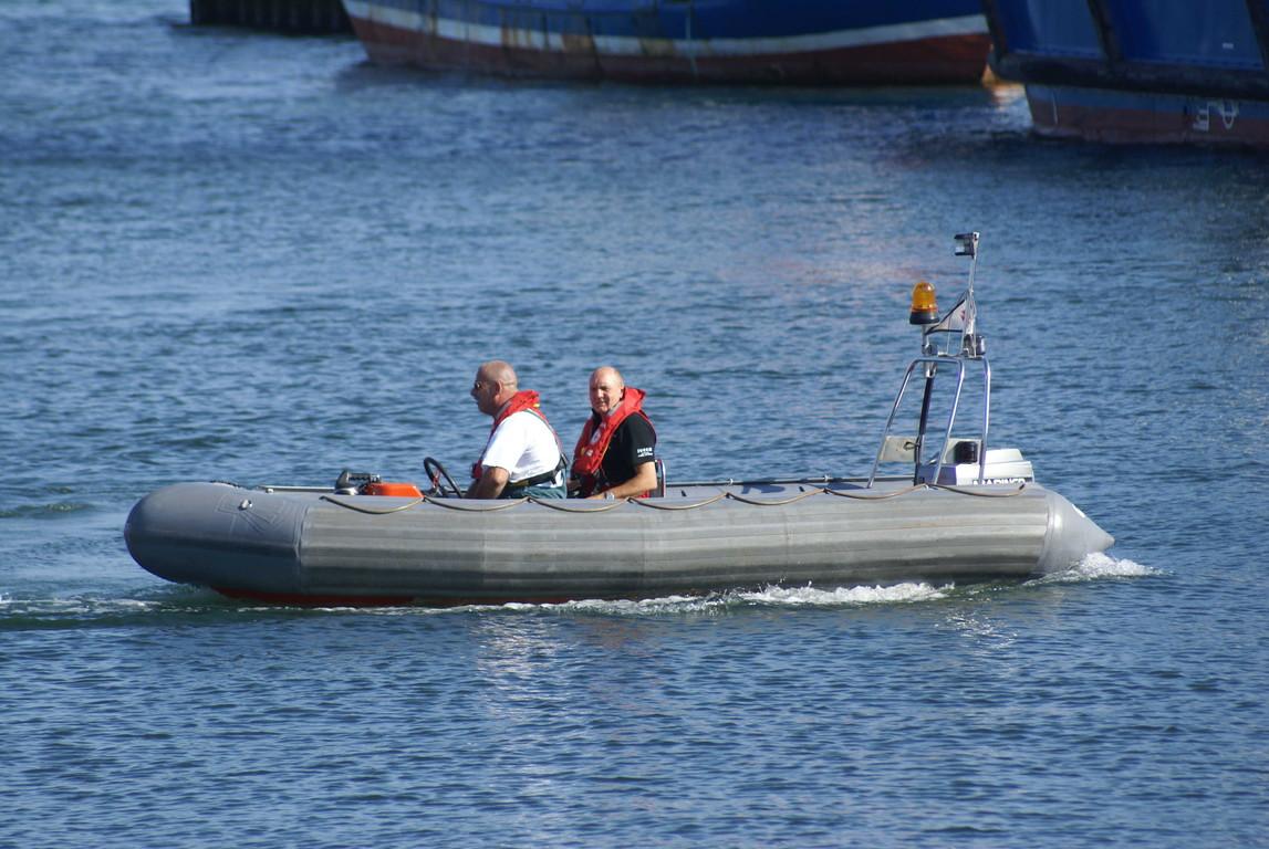 Bewegungsfahrt des Schlauchbootes