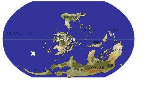 図5.デボン紀中期の地球