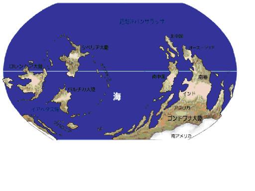図2.オルドビス紀後期の地球