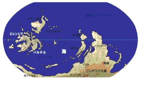 図3.シルル紀の地球