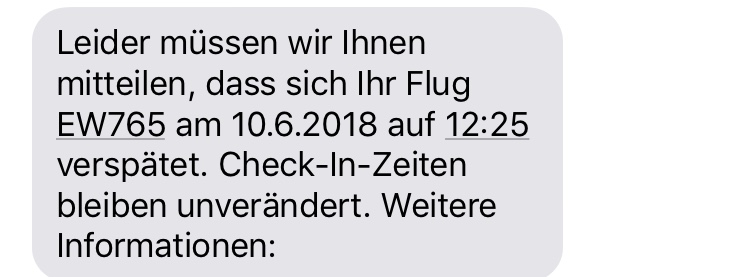 11:55 Uhr, Zurich Airport:  As expected at that time, another delay massage...