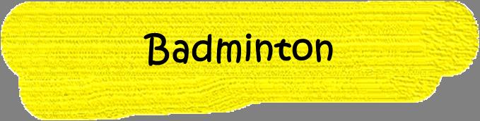 VfL Altenhagen Wort Badminton in schwarzer Schrift auf gelbem Grund