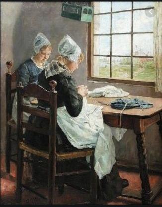 les couturières hollandaises Fritz Von Uhde, lorsque la peinture s'intéresse à une activité manuelle: la couture