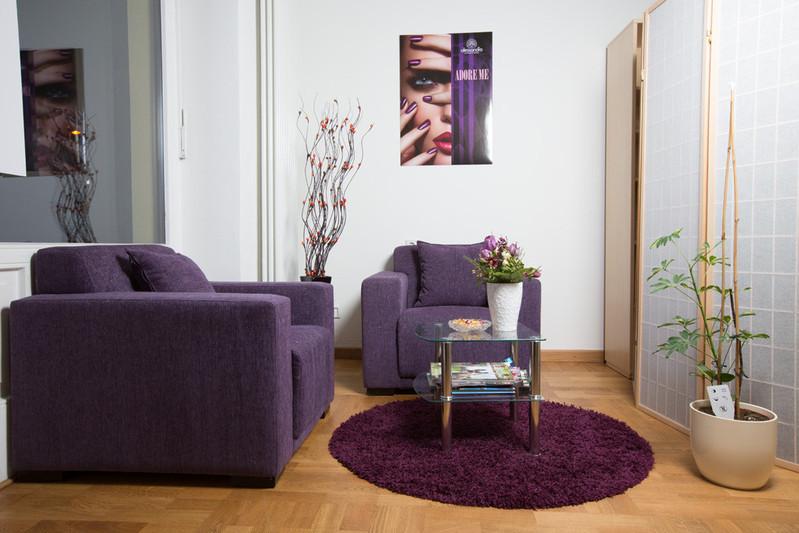 Sitzecke zum Entspannen oder Lesen einer Illustrierten