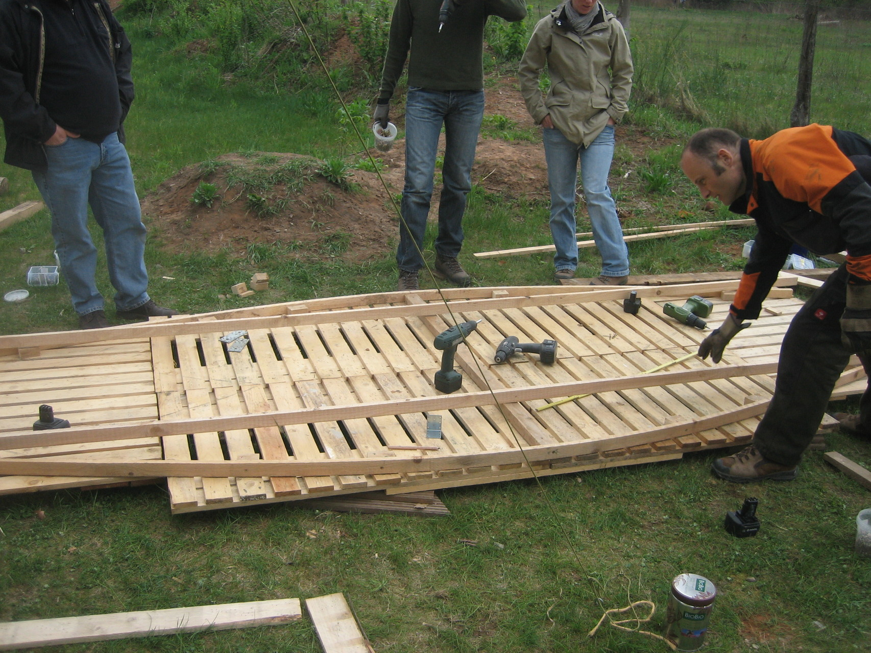 ...bauen unser Boot...