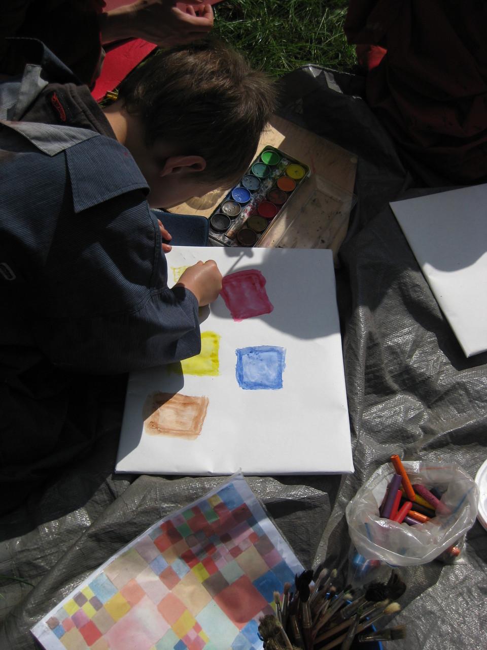 ...malen nach Paul Klee...