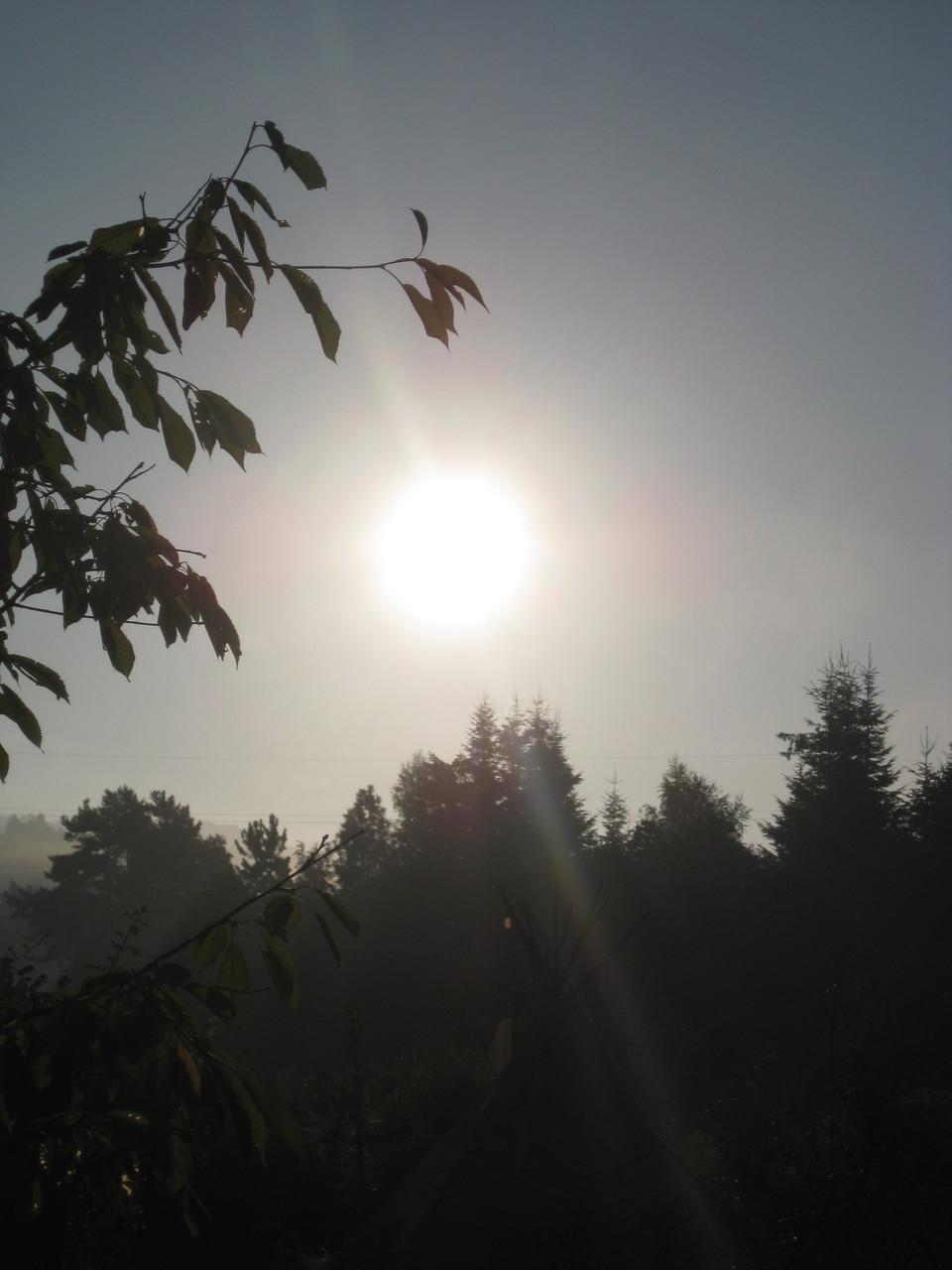 ...und genießen die Herbstsonne...