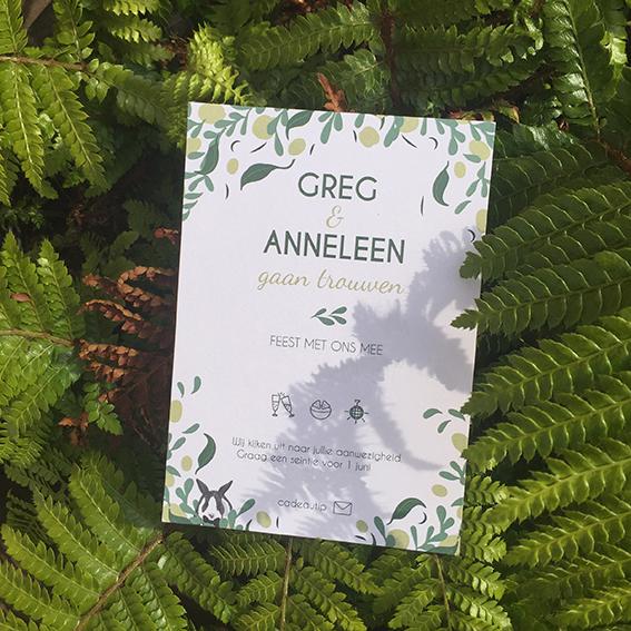 huwelijksuitnodiging botanisch