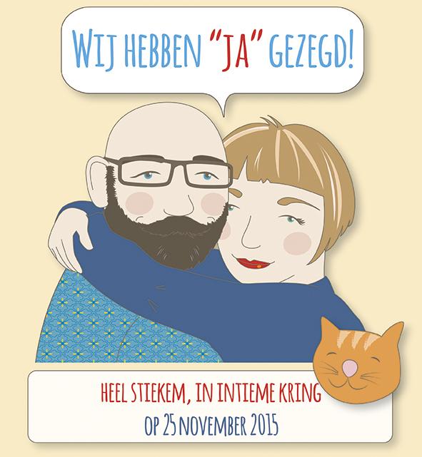 huwelijk illustratie