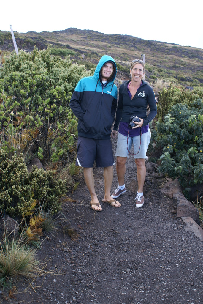 Haleakala crater, OMG So cold in here!!