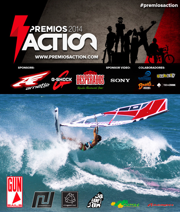 WINDSURF PREMIOS ACTION MARIA ANDRES ROOKIE 2014 WINDSURFING WATERSPORTS WAVES