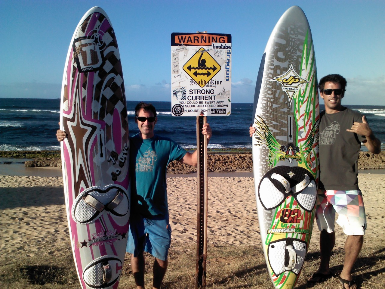 Joselu and Miki at Hookipa!