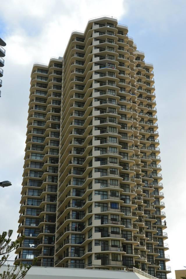 Mein Hotel von Aussen: hier wohnte ich im 21. Stockwerk