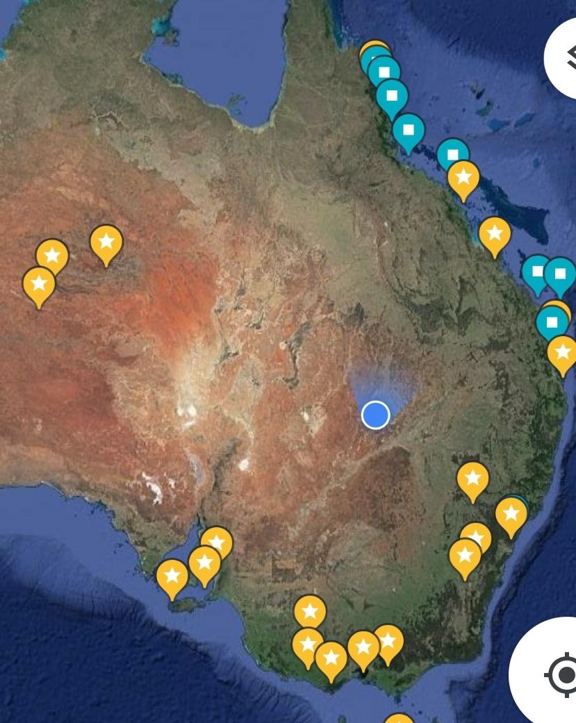 Dank Qantas gratiswlan während des Fluges und Googlemaps kann man immer gucken, wo man ist :-)