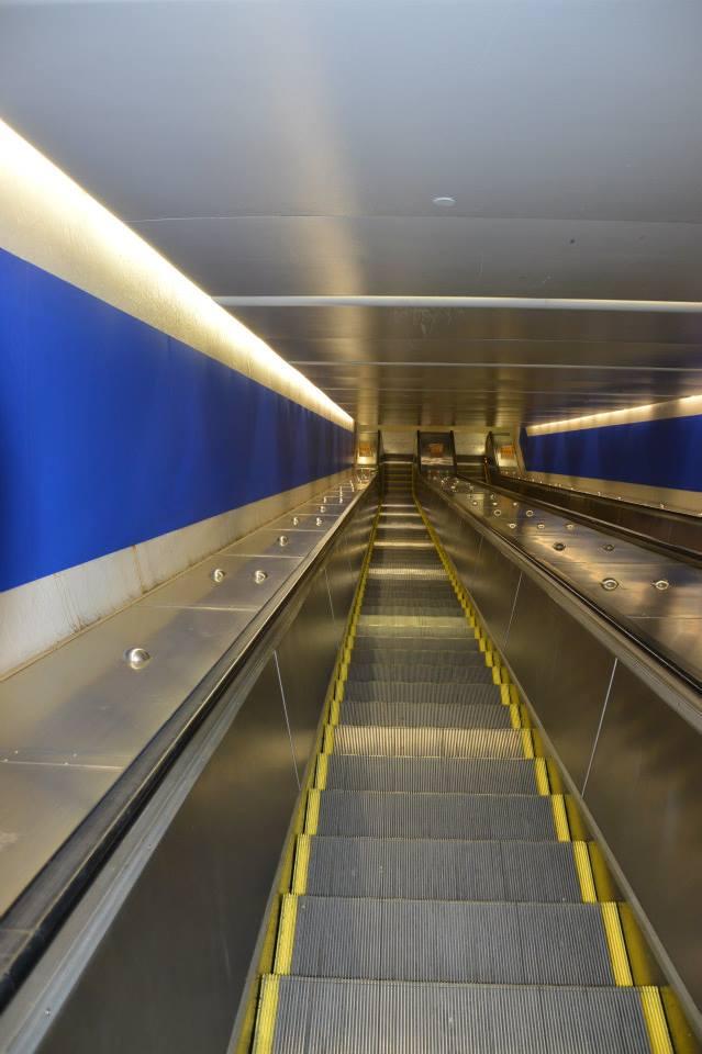 Ewig lange Rolltreppe zur U-Bahn im Kings Cross