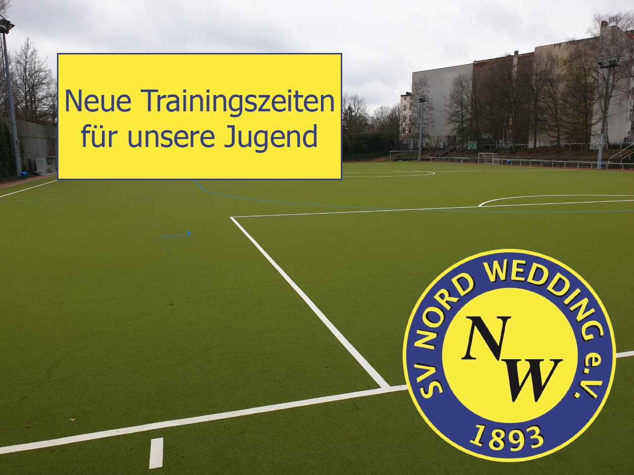 Neue Trainingszeiten für den Jugendbereich