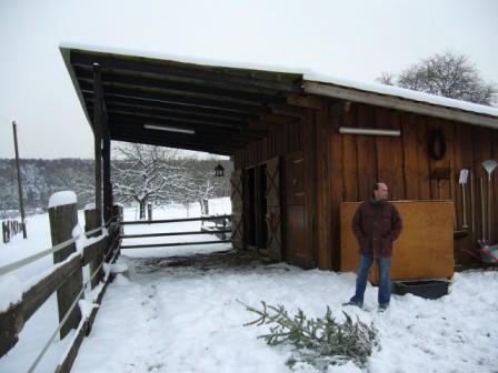 Der Stall im Winter