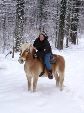 Mit Tanja im Schnee