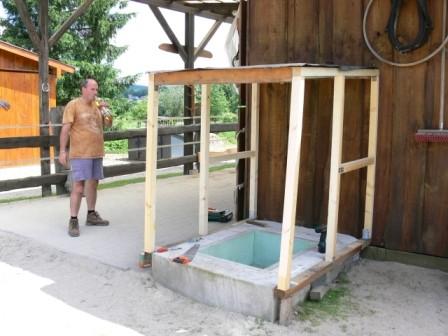 Die Wasserfaßisolierung im Rohbau
