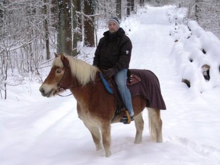 Mit Gerret im Schnee