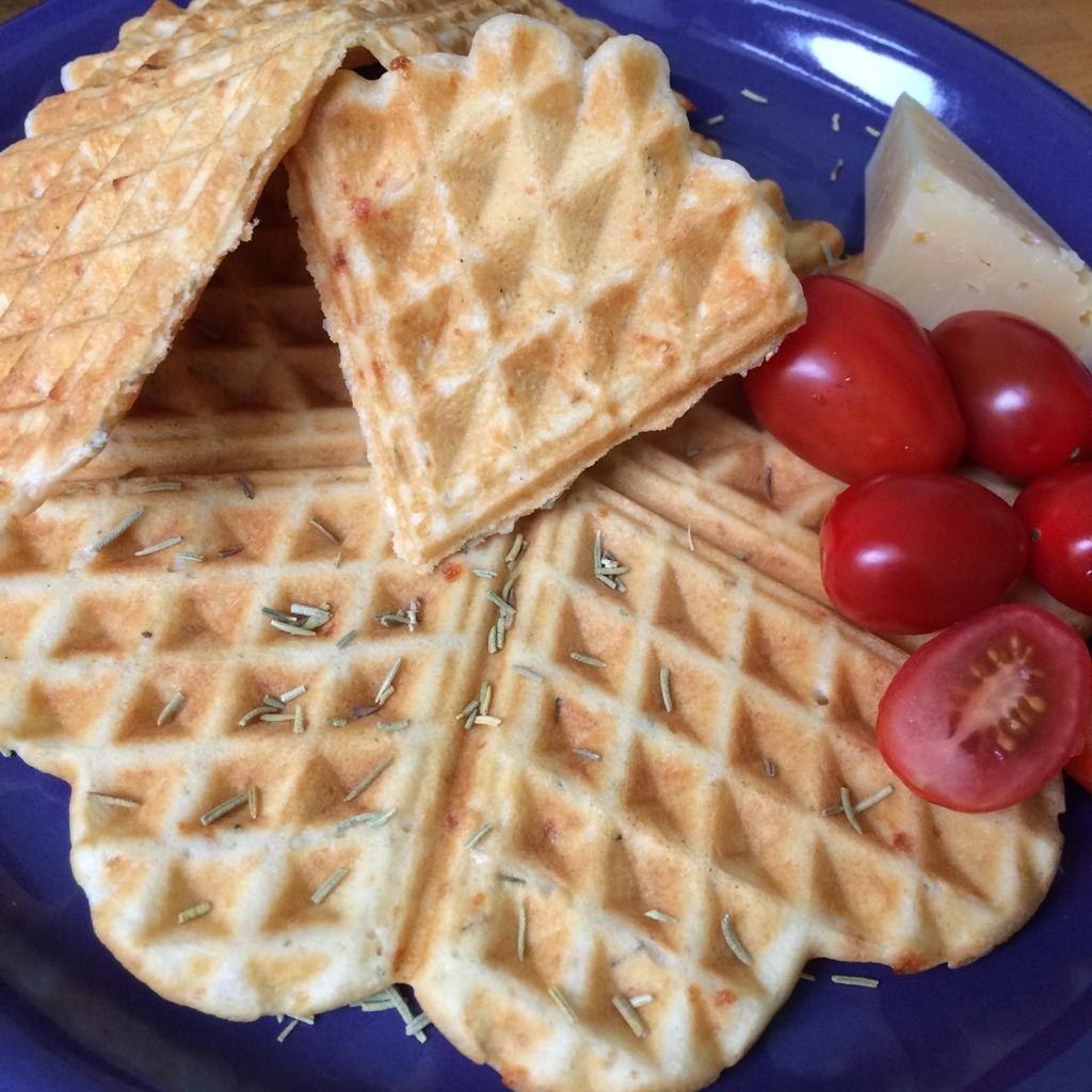 Rosmarin parmesan wafels - Rosmarin parmesan waffles