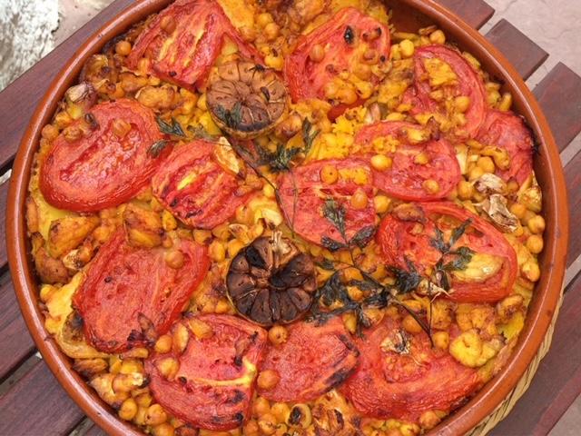 Arroz al horno - Spanish baked rice