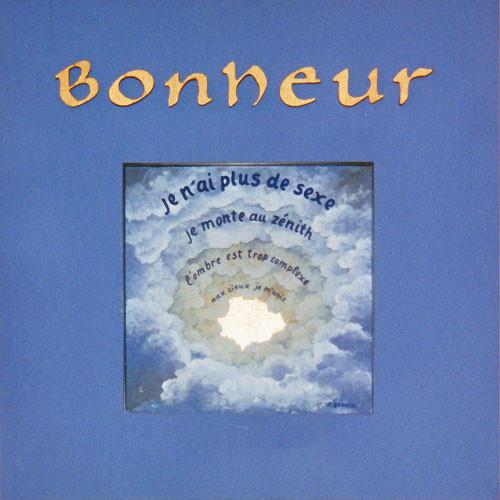 BONHEUR - extrait de poème de F. Brousse (acrylique sur verre, feuille d'or, bois)
