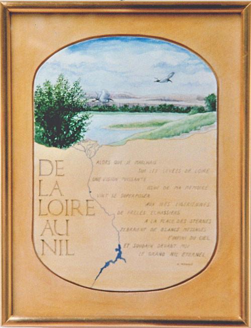 DE LA LOIRE AU NIL - poème de Noëlle (aquarelle, mis en page)