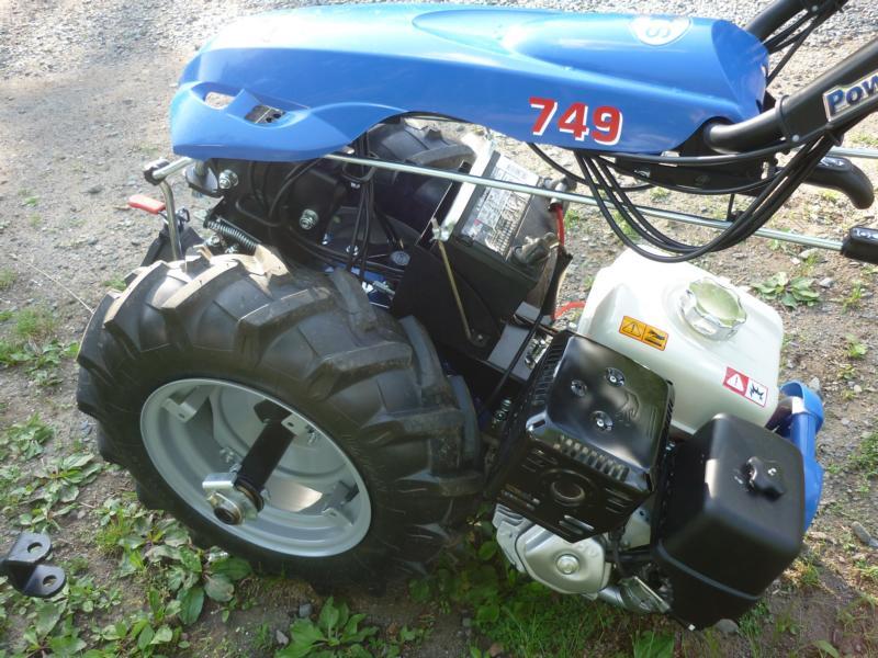 an Italian BCS 2-wheel tractor